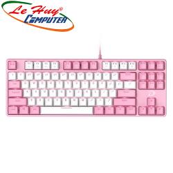 Bàn phím cơ DareU EK87 Pink White Multi LED Brown/Red/Blue switch