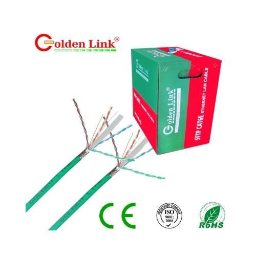CABLE MẠNG GOLDEN LINK SFTP Cat 6E 305m(Xanh lá) TAIWAN
