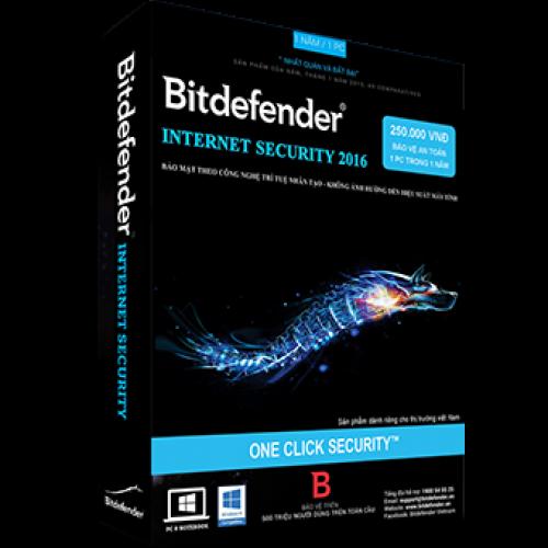 Phần mềm diệt virus Bitdefender Internet Security 2019