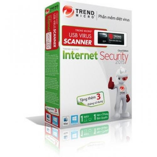 Trend Micro USB Virus Scanner Internet Security 2016 -1PC