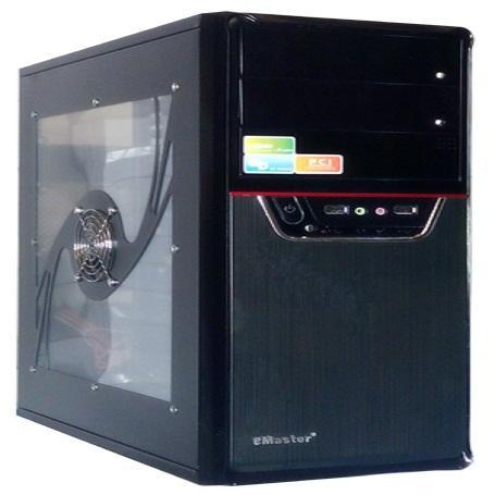 Vỏ máy tính Emaster  5T TRONG SUỐT BÊN HÔNG DÀY FAN 3MÀU