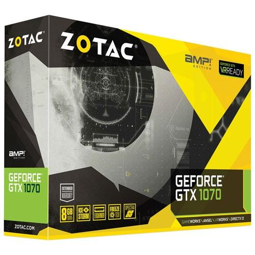 VGA ZOTAC GTX 1070 AMP Edition 8GB DDR5X 256bit 2Fan