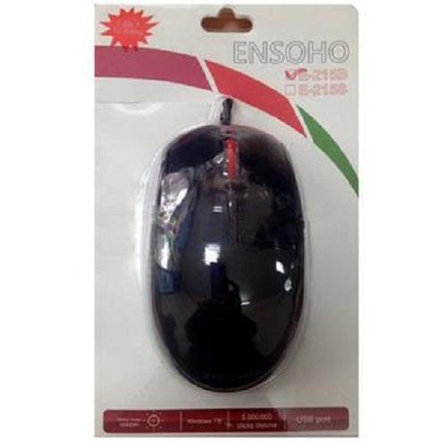 Chuột máy tính Ensoho E-215 (B/S - Đen/Bạc) USB