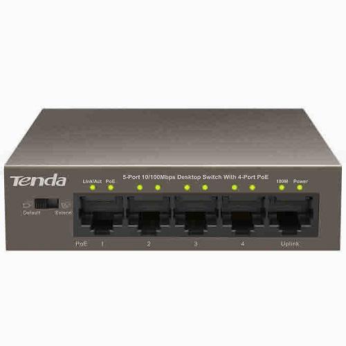 Thiết bị chuyển mạch Switch Tenda POE 5 Port TEF1105P(5-port 100Mbps với 4 port PoE)