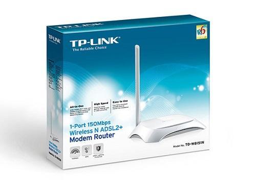 Thiết bị mạng - Modem TP-Link ADSL Wireless 1Port 8151N