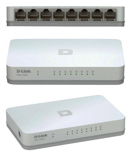 Thiết bị chuyển mạch Switch D-Link Port DGS-1008A 10/100/1000