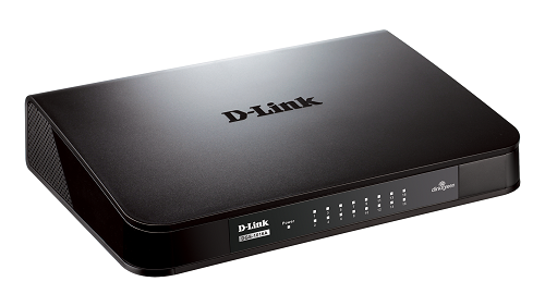 Switch Dlink 16 Port DGS-1016A 10/100/1000(NHỰA)