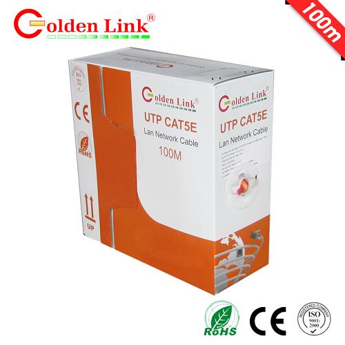 CÁP MẠNG GOLDEN LINK 4 pair UTP Cat5e 100m cam/trắng