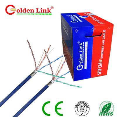 CÁP MẠNG GOLDEN LINK - 4 pair SFTP Cat6e 100m xanh dương chống nhiễu