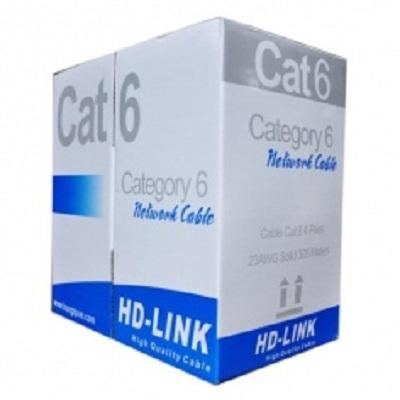 Cable HD link Cat6 UTP CCA Xanh Dƣơng