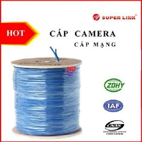 Cable Mạng SuperLink kèm nguồn Cat5 FTP + 2C 100m