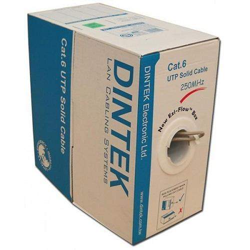 Cable Dintek CAT6 UTP, 4 pair, 23AWG, 305m/box