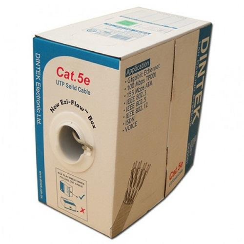 Cable Dintek CAT5e FTP, 4 pair, 24AWG,305m