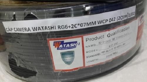 Cáp Camera Watashi WCP 042 RG6 + 2C*07MM - Cuộn 200M (Black)
