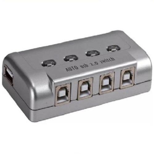 BỘ CHUYỂN ĐỔI TÍN HIỆU KVM 4-1 USB-DVI Dtech (DT 8241)