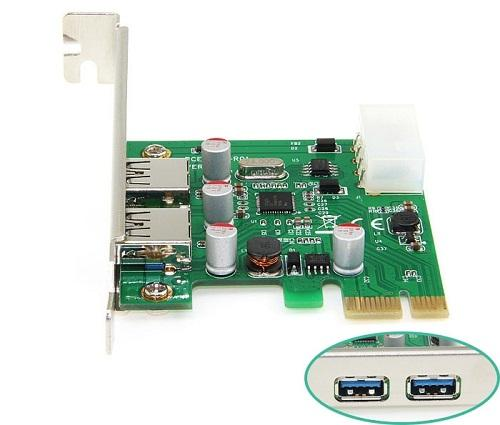 Card PCI 1x sang 2cổng USB