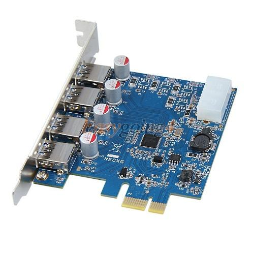 Card PCI 1x sang 4cổng USB