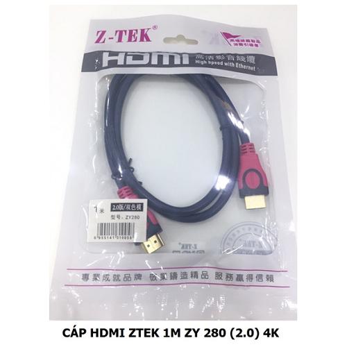Dây cáp chuyển HDMI Ztek 2.0 4k 1.8m