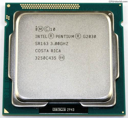 CPU Intel® Pentium G2030 TRAY FAN I3