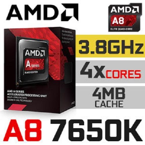 CPU AMD A8-7650K :4 nhân 4 luồng 3.30 GHz, xung tối đa 3.80 GHz Socket :FM2+