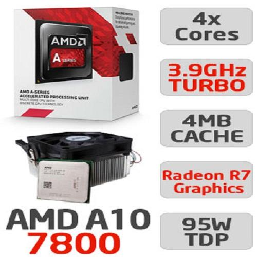 CPU AMD A10-7800 - Radeon R7 series 8-3.5Ghz (3.9Ghz Turbo) /65W / L2 4MB / 4 core / Socket FM2+