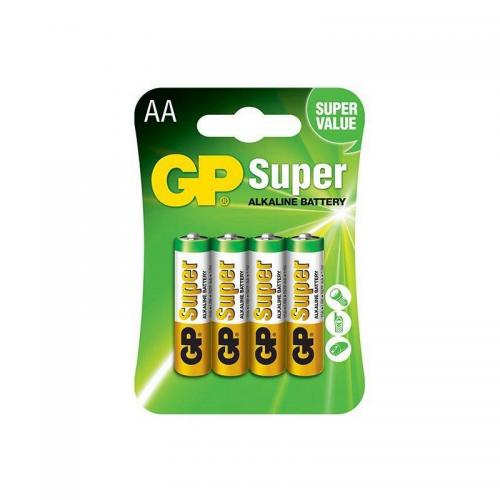Super Alkaline AA 4 cell card pack