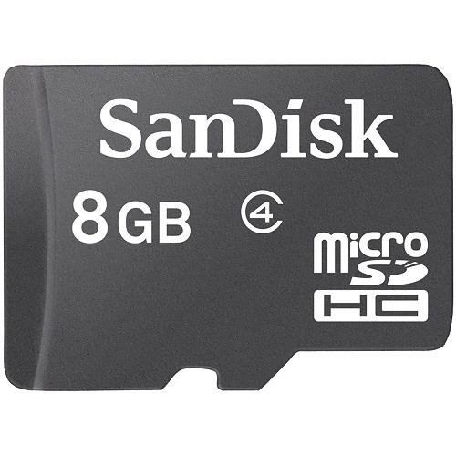 Thẻ Micro SD SANDISK 8G(C4) TRAY