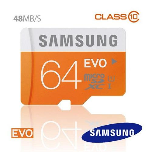 Thẻ Micro SD SAMSUNG EVO 64G C10