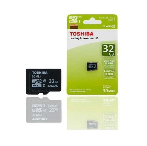 Thẻ nhớ Micro SD Toshiba 32G bảo hành 3 năm BOX  xanh thẻ nhỏ(C10