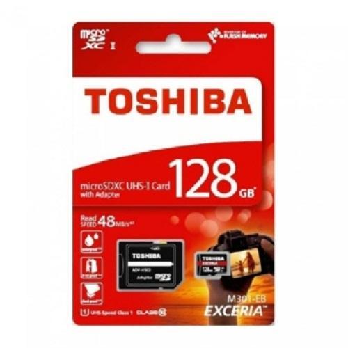Thẻ nhớ Micro SD Toshiba 128G bảo hành 5 năm BOX đỏ thẻ nhỏ(C10) 90M