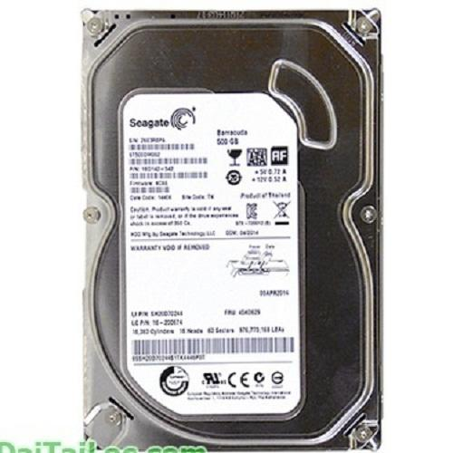 Ổ Cứng HDD Seagate 500GB Sata mỏng CTY BH 24T