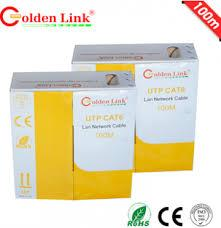 Cable Golden link - 4 pair UTP Cat6 100m  vàng