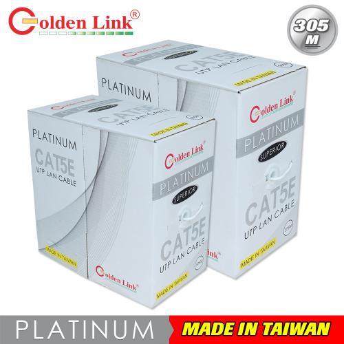 CÁP MẠNG GOLDEN LINK - 4 pair Cat5e UTP  305m cam/đỏ/trắng taiwan