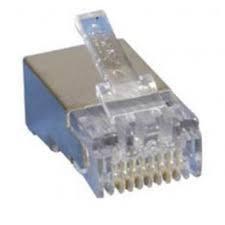 Đầu bấm dây mạng RJ45 Dintek CAT5 FTP mạ vàng mạ vàng (bọc thép Chống nhiễu)