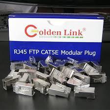 Đầu bấm dây mạng RJ45 Goldenlink CAT5 FTP mạ vàng