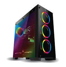 Vỏ máy tính Gaming Freak GFG 900G  CASE GƯƠNG CÓ 4 FAN LED RGB