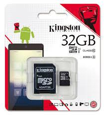 THẺ NHỚ 32GB Kingston MicroSDHC (Class 10)