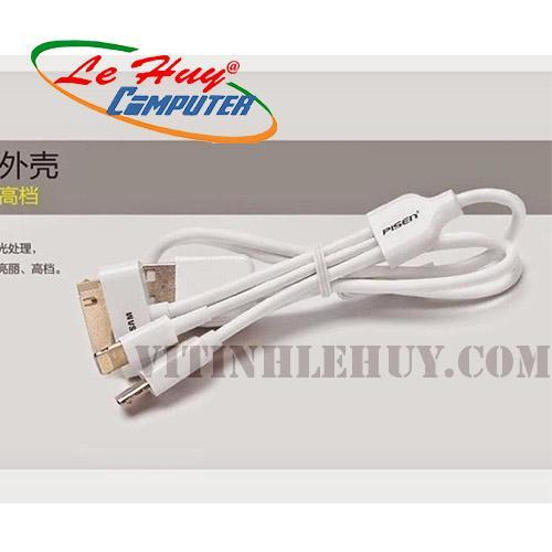Cable sạc đa năng 5 ĐẦU  LÒ XO(IP5/IP4/8600/NOKIA NHỎ)