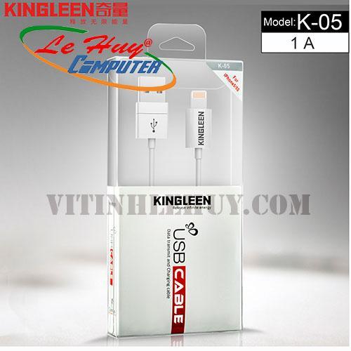 CÁP iphone 5 KINGLEEN  BOX  đầu sạc có led