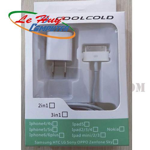 BỘ CÓC CÁP COOLCOLD-IPHONE 4S/4G