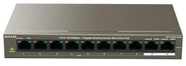 Thiết bị chuyển mạch Switch Tenda POE 10 Port TEF1110P- 10/100(8 CỔNG PoE + 2PORT GIGA)