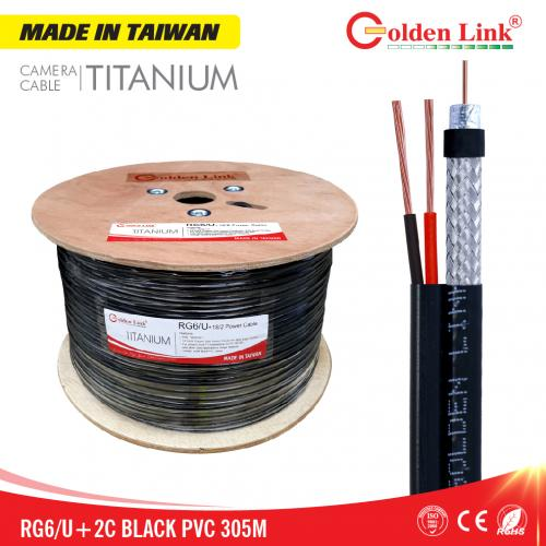 Cáp đồng trục Camera Goldenlink RG6/U+2C MADE IN TAIWAN 305M