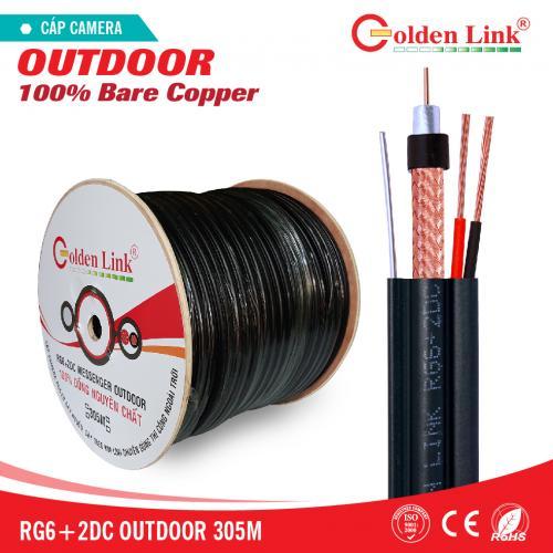 Cáp đồng trục Camera Goldenlink OUTDOOR RG6+2DC 305M