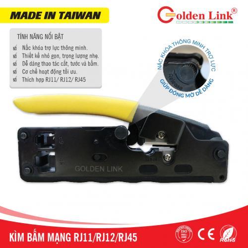 Kìm bấm dây mạng Goldenlink RJ45, RJ11, RJ12 MADE IN TAIWAN
