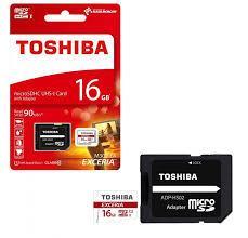 Thẻ nhớ Micro SD Toshiba 16G bảo hành 5 năm BOX đỏ thẻ nhỏ(C10) 90M