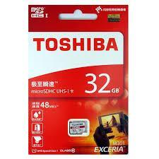 Thẻ nhớ Micro SD Toshiba 32G bảo hành 5 năm BOX đỏ thẻ nhỏ(C10)