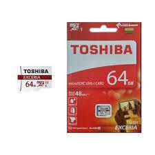 Thẻ nhớ Micro SD Toshiba 64G bảo hành 5 năm BOX đỏ thẻ nhỏ(C10)-90M