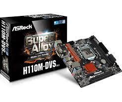 Bo Mạch Chủ - Mainboard Asrock H110M-DVS R3.0 (RAM 4)( DVI/VGA)- TẶNG KÈM MOUSE ASROCK USB