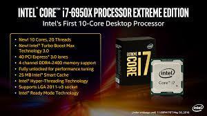 CPU Intel® Core i7 - 6950X phiên bản Extreme