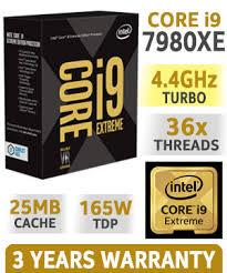 Bộ vi xử lý - CPU Intel® Core i9 - 7980XE EXTREME EDITION 2.6GHz Turbo up to 4.2GHz/ 24.75MB/ 18 Cores, 36 Threads/ Socket 2066